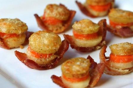 bacon vegetable gratins