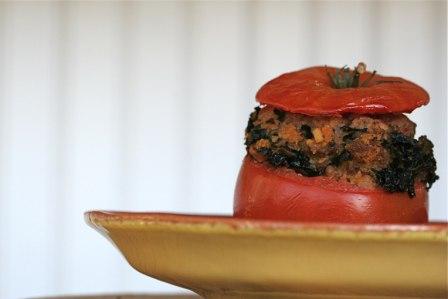 grilled stuffed tomato