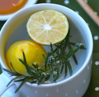 lemon rosemary hot drink