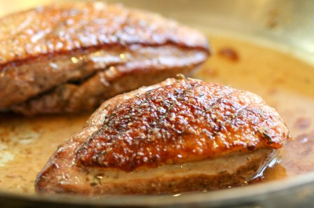 Simple Pan Roasted Duck Breasts With Herb Salt Edible Seattle