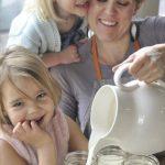 making yogurt with kids