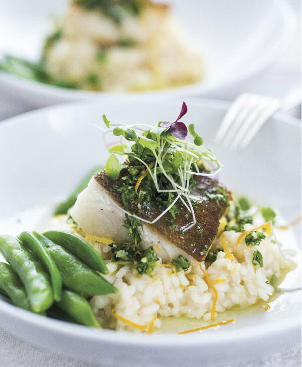 Seared Black Cod with Meyer Lemon Risotto and Gremolata ...