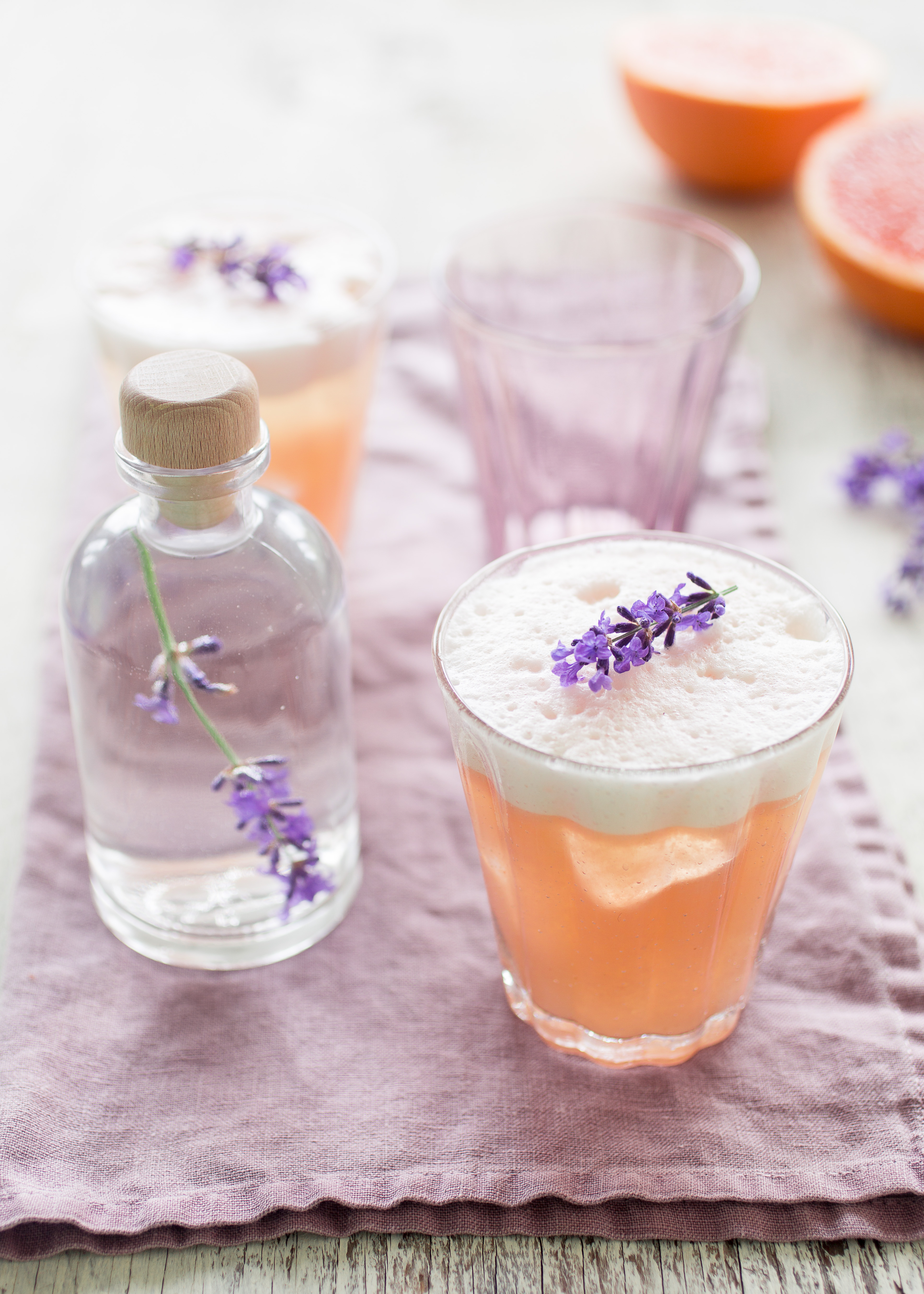 Lavender elderflower and grapefruit gin fizz edible seattle i knew immediately that lavenders flowery tones would pair well with an elderflower liqueur such as st germain and the botanical flavors of gin forumfinder Images