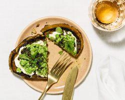 smashed pea toast cover
